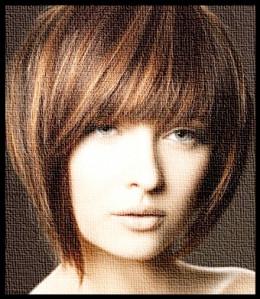 Ladies short haircut