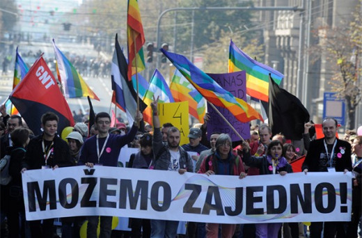 Successfully secured march in Novi Sad, 2009. But Belgrade, as capital FAILED, as they did in 2010, and NOW!