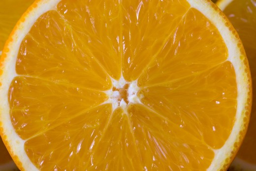 An already cut orange may leave juice wherever you put it.