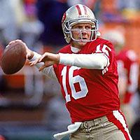 San Francisco Quarterback Joe Montana