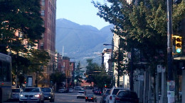 The view from Gastown, the town where everything in Vancouver began