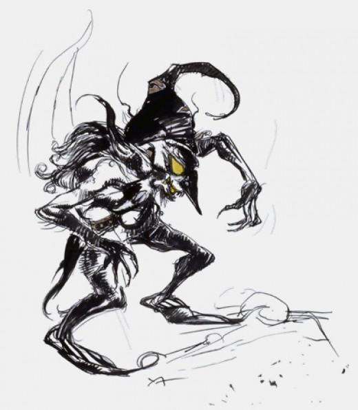 A fearsome mean goblin