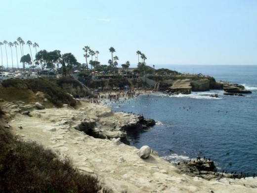 The Cove at La Jolla, California after 140 years of disastrous sea level rise, caused by Catastrophic Anthropogenic Global Warming.