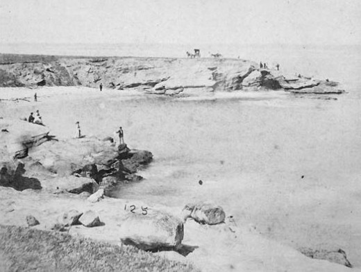 The Cove at La Jolla, California 140 years ago.
