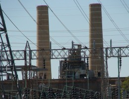 The high voltage electrical lines at this Houston area power plant put out some mighty powerful EMFs.