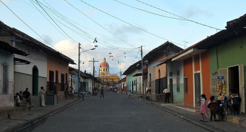 This typical Nicaraguan street in the town of Granada was photographed by Milei Vencel on November 23, 2011.