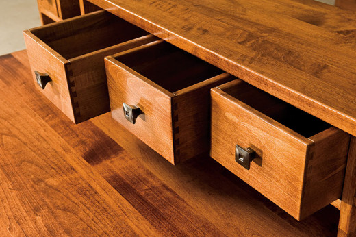 Quality built furniture shows in the way the drawers are made
