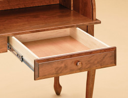 Quality furniture will use all wood drawers and even self closing metal drawer glides