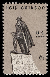 US postage stamp depicting Leif Ericson
