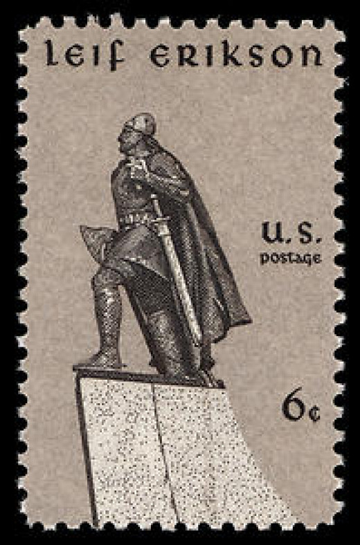 US postage stamp depicting Leif Ericson