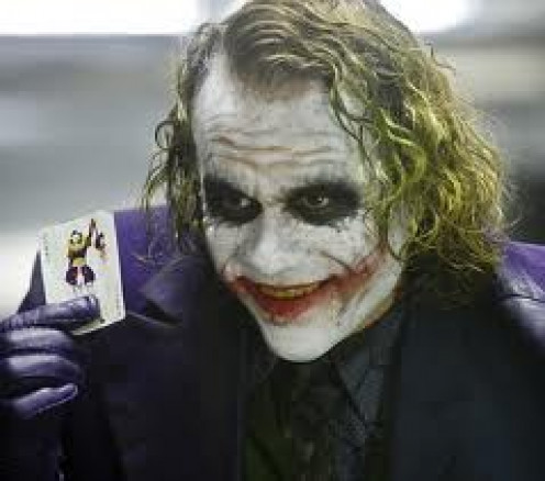 The Joker From Dark Knight was played by the late actor Heath Ledger. He played a perfect role and after he passed away he was awarded an Academy Award for his portrayal of The Joker.