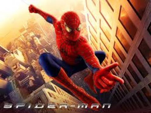Spiderman was a great action hero movie starring Toby McGuire. Peter Parker gets bit by a spider and becomes spiderman the crime fighter.