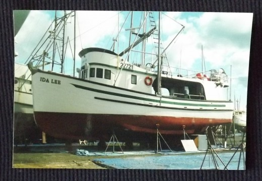 Vintage 1990's Color Photo--A Drydocked Ida Lee