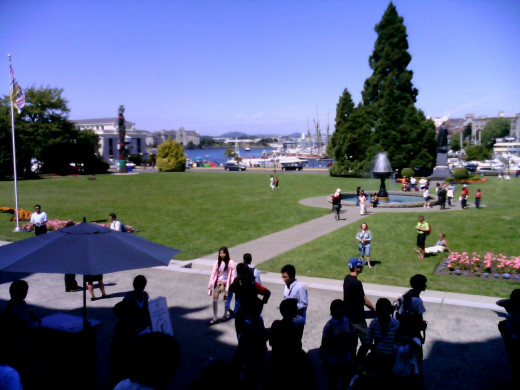 Victoria, the capital of British Columbia on a warm summer day