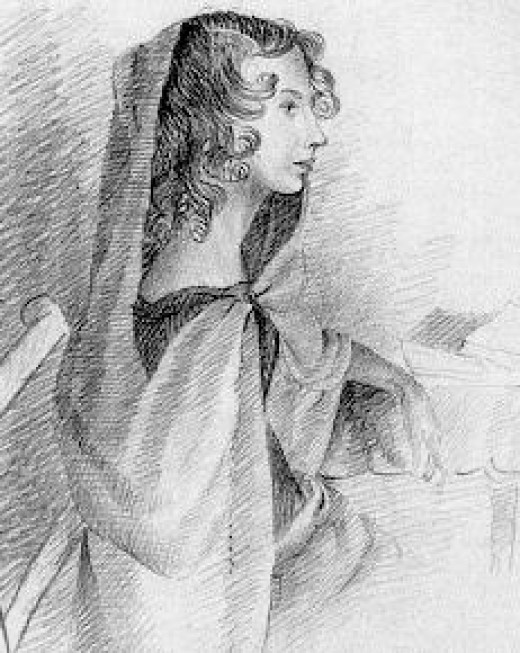 A sketch of Anne Bronte done by her sister, Charlotte.