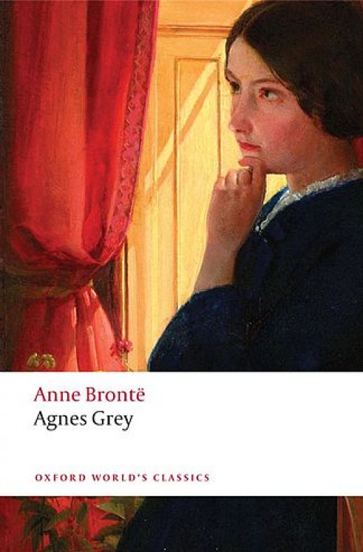 Book cover of the novel Agnes Grey, by Anne Bronte.