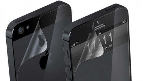 Front and back screen protectors for iPhone 5