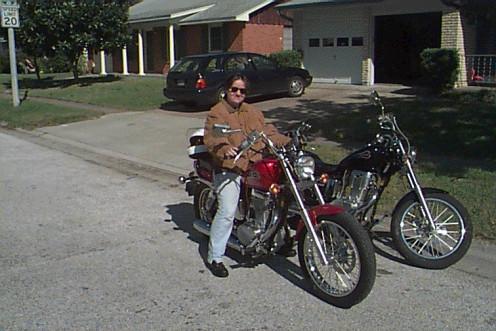 Me on my first bike, a Suzuki Savage