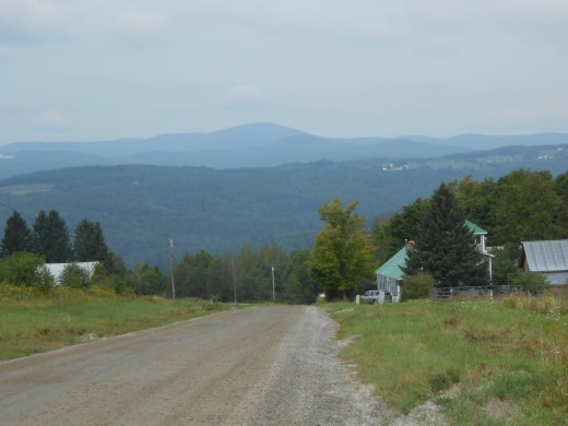 Mountains in the Northeast Kingdom of Vermont