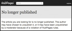 When you check the status of your Hubpages, what action do you take when the link indicates broken?