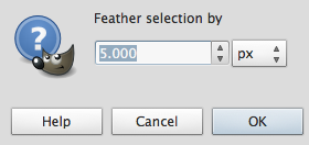 Feather. To feather the selection, click Select   Feather.