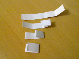 fold the rectangle card twice to form a small stub