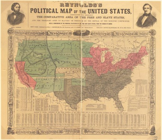 Reynolds's Political Map of the United States 1856