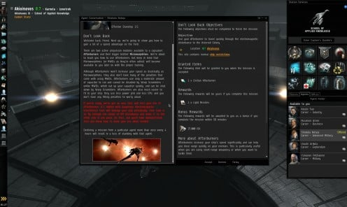 Don't Look Back: Eve Online Mission Guide