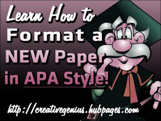 Learn how to format a new paper in APA style