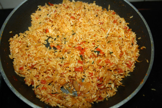 Add cooked rice