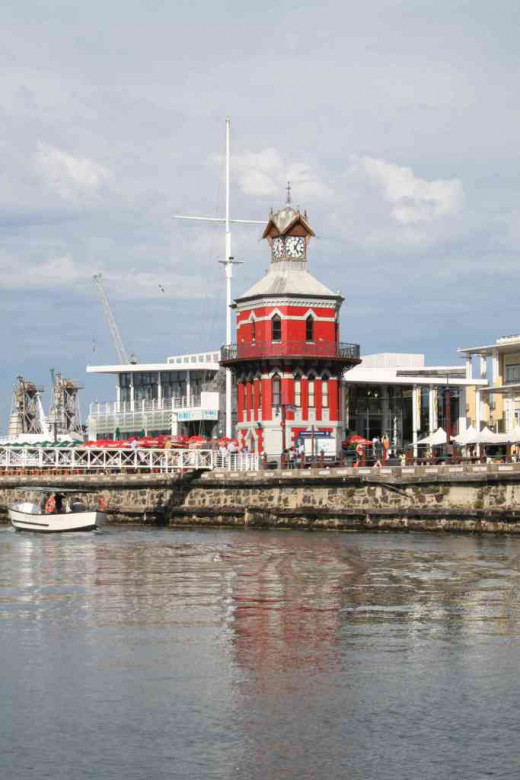 The famous Clock Tower in the V&A Waterfront, Cape Town.