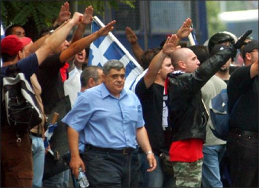 Nikolaos Michaloliakos leader of The Golden Dawn