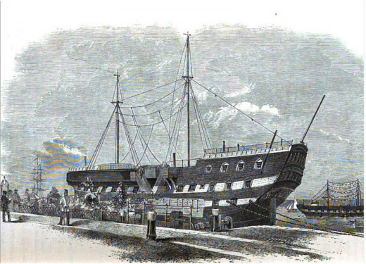 An illustration of an Australian prison ship