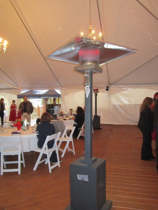 Chilly? No Worries! Chamberlain Farm Pavilion will keep you warm with their safe and healthy heaters!
