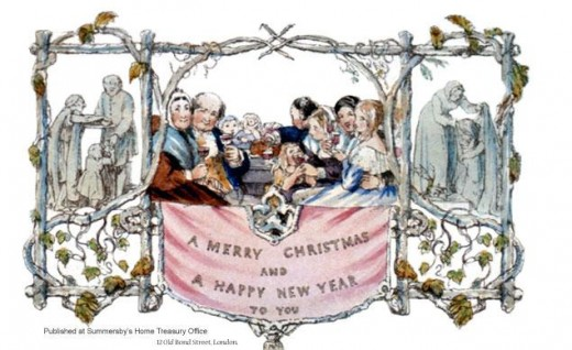 Sir Henry Cole's First Christmas Card (courtesy of WikiPedia.com)