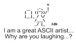 How to Make ASCII Art Pictures with Keyboard Keys