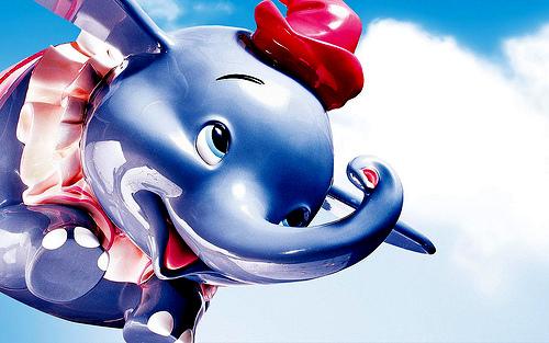 Dumbo, the flying elephant. Only in Disneyworld
