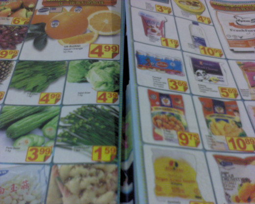 Lots of supermarket brochures
