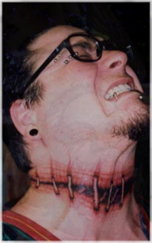 Permanent tattoos can be such a pain in the neck!