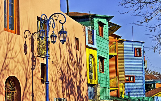 Caminito Farolito in La Boca, Buenos Aires, Argentina was photographed by Louis Argerich on July 16, 2008.