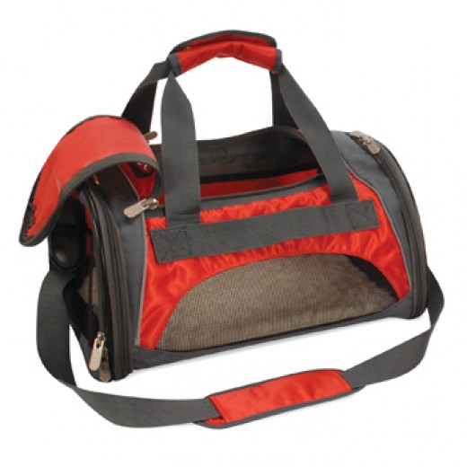 Sherpa Sport Duffle Cat Carrier Bag & Tote, Medium in Red