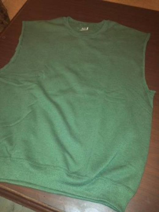 Tunic for a Link Costume with the sleeves removed.