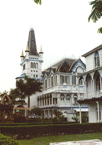 This photograph of Georgetown, Guyana City Hall was taken by JukoFF on December 24, 2005.
