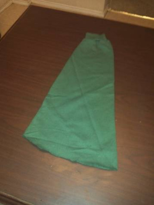Turn a sleeve into a hat for a Link Costume