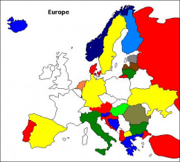 Map of countries that use the Europlug, even with some differences from the original.