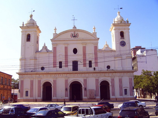 This cathedral in Asunción, Paraguay,  constructed in 1845 during the rule of Carlos António López, was photographed by Jan Pešula on April 4, 2006.