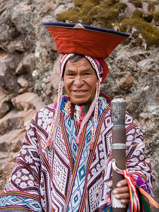 This Andean man in traditional dress was photographed by Cacophony on November 14, 2007.