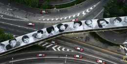 An overpass in Hong Kong