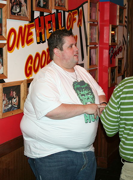 Comedian Ralphie May. You know someone loves this big boy!