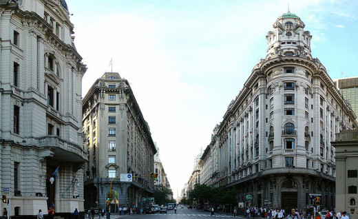 Avenida Roque Sáenz Peña (Diagonal Norte) and Obelisk of Buenos Aires